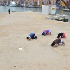 Bouillon Group, (Religious) Aerobics, 2013, Georgian Pavilion, Arsenal Venice Biennale// photo by Robert Mkhitarov