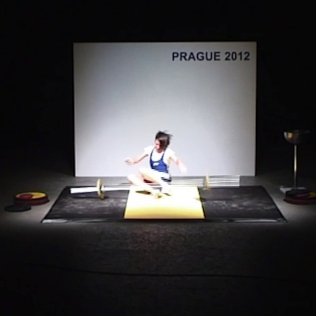 "COMPETITION PHASE: PERFORMANCE LIMIT / 2012, exhibition ""Tamad's Tutorial"", MeetFactory Gallery, Prague"